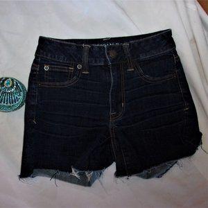 AEo size 0 zero blue jean womens